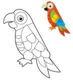 Kreskówki zwierzę ilustracja dla dzieci - kolorystyki strona - Zdjęcie Royalty Free
