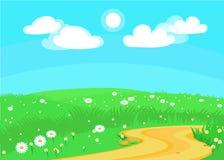 Kresk?wki krajobrazowa halizna, gazon dla gier i odtwarzanie, royalty ilustracja