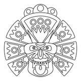Kreskowa afrykanin maska ilustracji