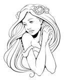 Kreskowa dama 02 Zdjęcia Royalty Free