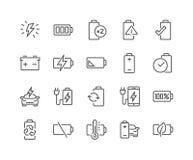 Kreskowe Bateryjne ikony Zdjęcia Royalty Free
