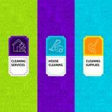 Kreskowe Cleaning pakunku etykietki Fotografia Royalty Free