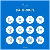 Kreskowe colorfuul ikony ustawiają kolekcję kąpielowy pokój Obrazy Stock