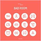 Kreskowe colorfuul ikony ustawiają kolekcję zły pokój Fotografia Stock
