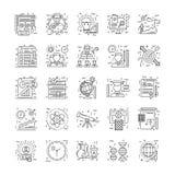 Kreskowe ikony Z szczegółem 3 Obrazy Stock