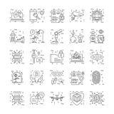 Kreskowe ikony Z szczegółem 10 ilustracja wektor