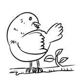 Kreskowego rysunku ptak - Wektorowa ilustracja Royalty Ilustracja