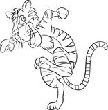 Kreskowego rysunku tygrys biegał - Wektorowa ilustracja Ilustracja Wektor