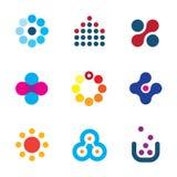 Kreskowej inspiracja projekta symbolu postu trójboka loga fachowej prędkości innowaci kropek technologii iconsConnecting nowy bad Zdjęcie Royalty Free