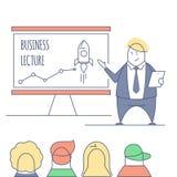 Kreskowej sztuki biznesu wykład Zdjęcia Stock