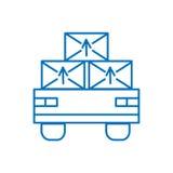 Kreskowej sztuki konturu ikony ilustracja odizolowywający szyldowy symbol, cienka linia dla sieci, nowożytny minimalistic płaski  Zdjęcia Royalty Free