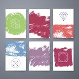 Kreskowi projektów logowie i ikona elementy dla kart lub Zdjęcia Royalty Free
