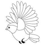 Kreskowy śliczny ptak, barwi styl odizolowywającego na białym tle ilustracja wektor