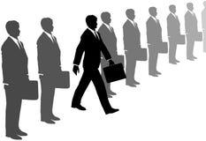 kreskowy biznesowy kreskowy mężczyzna kroczy kostiumy Zdjęcie Stock