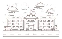 Kreskowy budynek szkoły royalty ilustracja