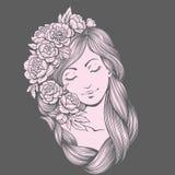 Kreskowy dziewczyna negatyw Obraz Royalty Free