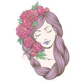 Kreskowy dziewczyny zimno 1 Obrazy Royalty Free