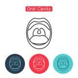 Kreskowy ikony usta z zębami Zdjęcie Royalty Free