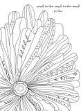 kreskowy kwiat z zawijasem Zdjęcie Royalty Free