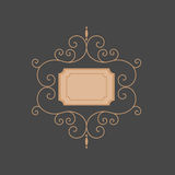 Kreskowy monogram szablonu monogram Luksusowy monogram Obraz Stock
