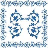 Kreskowy wzór granicy baroku drut Zdjęcie Royalty Free