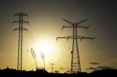 Kreskowy zasilanie elektryczne pilon Fotografia Royalty Free