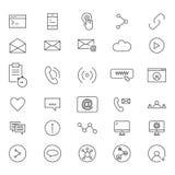 30 Kreskowych ikon socjalny Zdjęcie Stock