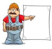 Kreskówka budowniczy Zdjęcia Royalty Free