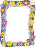 Kreskówka kwiatu granica Fotografia Royalty Free