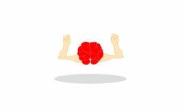 Kreskówka mózg Zdjęcia Royalty Free
