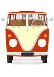 Kreskówka retro samochód dostawczy Zdjęcia Royalty Free