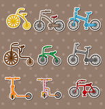 kreskówka rowerowi majchery Fotografia Stock