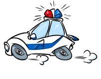 Kreskówka samochodu policyjnego syreny ilustracja Obrazy Royalty Free