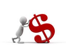 kreskówki dolarowy mężczyzna symbol Fotografia Stock