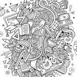 Kreskówki Doodle wektorowa edukacja Obraz Royalty Free
