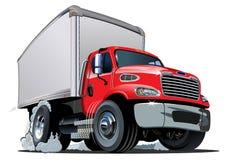 Kreskówki dostawa, ładunek ciężarówka/ Obraz Royalty Free