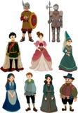 kreskówki ikony średniowieczni ludzie Zdjęcia Royalty Free