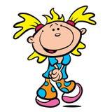 kreskówki śliczna dziewczyny ilustracja trochę Obraz Stock