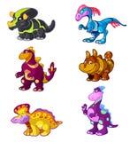 kreskówki śliczny Dino set Fotografia Royalty Free