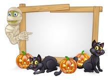 Kreskówki mamusi Halloweenowy znak Zdjęcie Stock