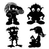 kreskówki serc biegunowy setu wektor potwory Obrazy Royalty Free