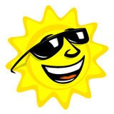 kreskówki słońce Obrazy Royalty Free