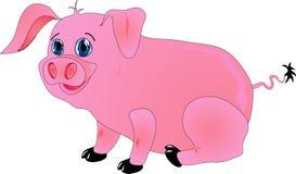 kreskówki świnia Obraz Royalty Free