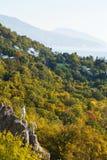 Krestovaya mount slope and South Coast of Crimea Stock Photography