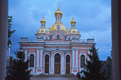 Krestovozdvizhensky Cossack Cathedral in Saint Petersburg, Russia Royalty Free Stock Image