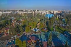 Krestovsky海岛地区看法在圣彼德堡,俄罗斯 库存图片