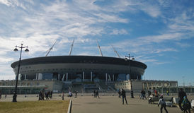 Krestovsky Ostrov `的,圣彼德堡竞技场` -队Zenit的家庭竞技场新的体育场 库存照片