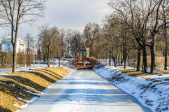 Krestovy Bridge in Alexander Park Stock Photo