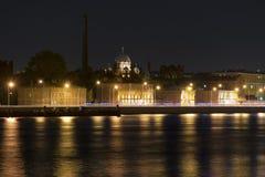 Kresty-Gefängnis nachts lizenzfreies stockbild