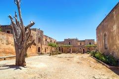 Kreta-arkadi Kloster lizenzfreie stockfotos